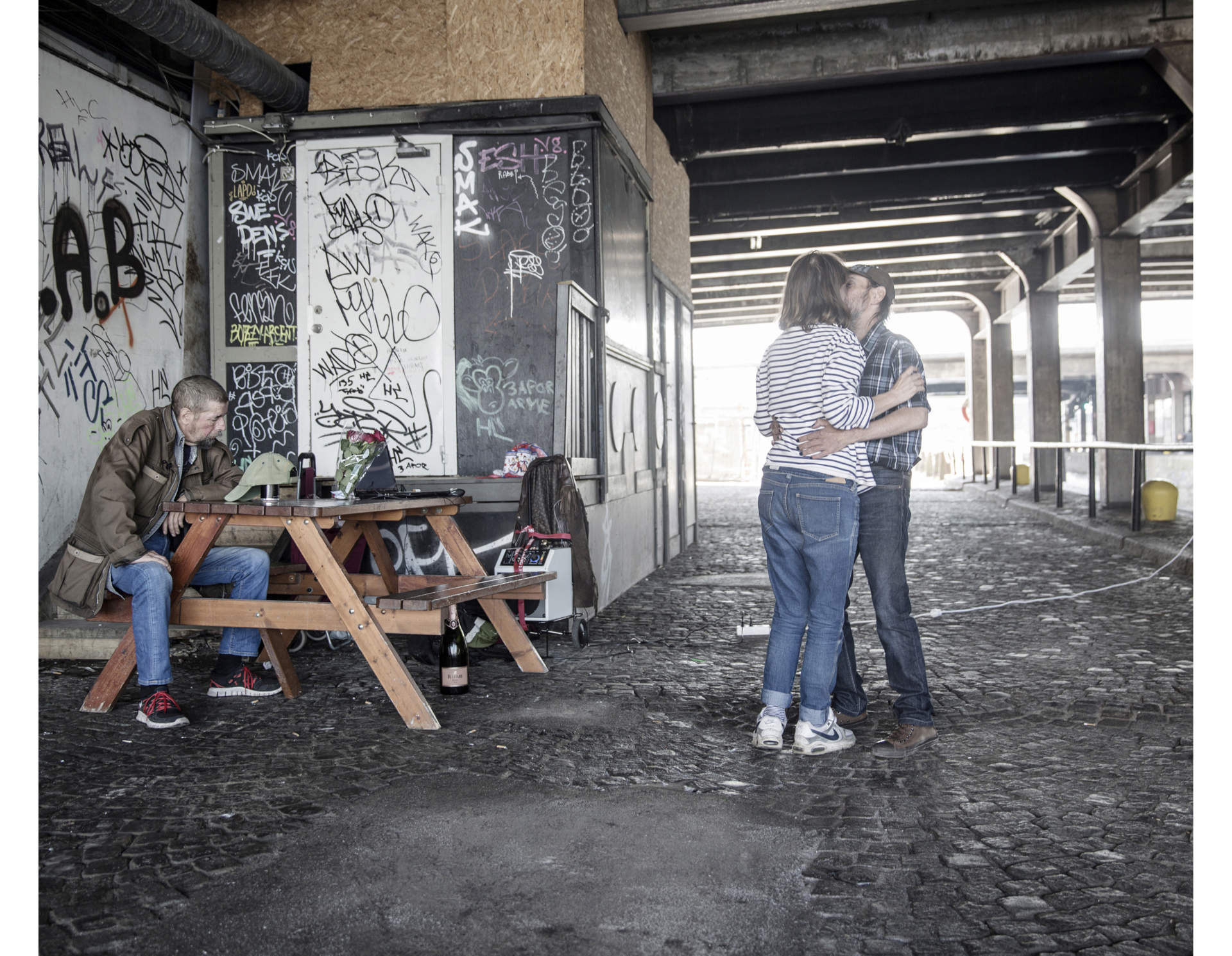 """It's Mattes birthday and the two friends celebrates together with Pekkas girlfriend at their favourite spot under a bridge in Stockholm. Pekka saved his money for months to buy a 30 min helicopter tour for Matte, something he had wished for his entire life. """"Now I can die happy"""" said Matte."""